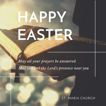 Happy Easter Day in church