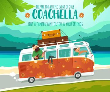 Coachella bus rental ad service
