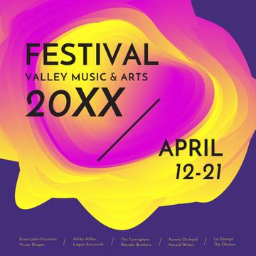 Coachella festival futuristic invitation