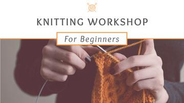 Knitting Workshop Announcement Woman Knitting Garment