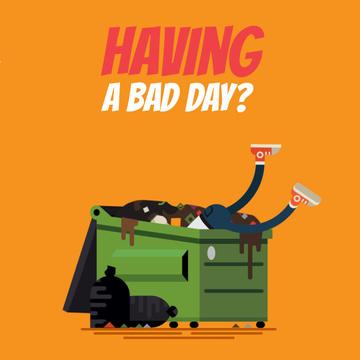 Unlucky Man in Dumpster