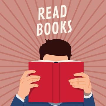 Books Inspiration with Man reading Red Book