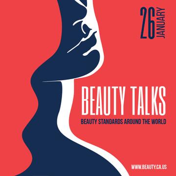 Beauty Talks Announcement with Creative Female Portrait