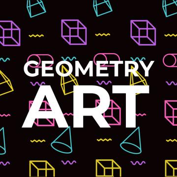 Geometry Art Inspiration with Moving Figures