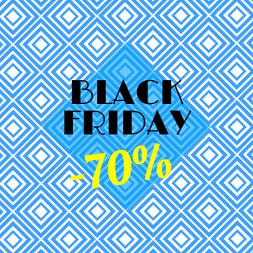 Black Friday Sale with Blue Kaleidoscope Pattern