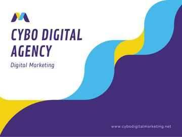 Digital Agency Ad with Wavy Lines in Blue
