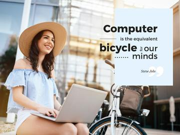 Computer is the equivalent bicycle for our minds