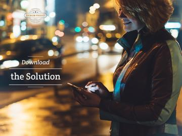 Download the solution on mobile phone