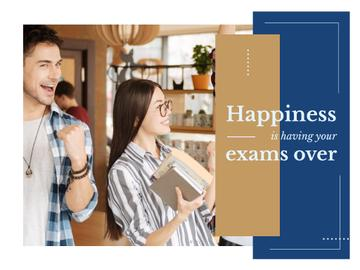 Happy Students Passing Exams