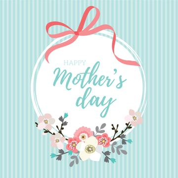 Happy Mother's Day Greeting with Ribbon