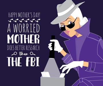 Happy Mother's Day greeting with Mom detective