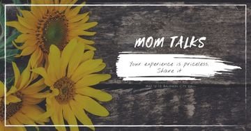 Mom talks with Sunflowers