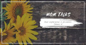Mom talks with Sunflowers