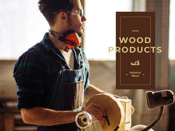 Man in craft workshop