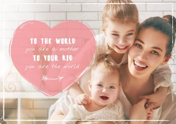 Mother with kids on Mother's Day
