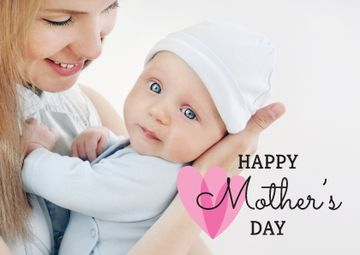 Mother holding Child on Mother's Day
