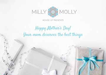House of presents Ad with gifts on Mother's Day