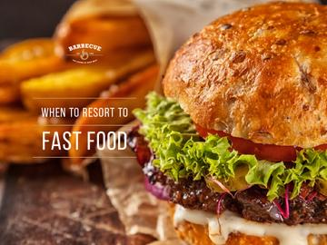 Fast Food Menu Tasty Burger