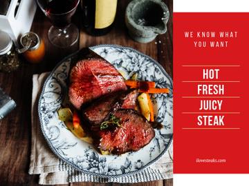 Hot fresh juicy steak