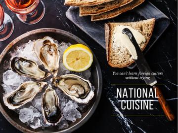 National cuisine on table