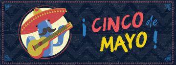 Cinco de Mayo holiday with mexican musician