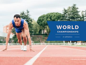 World Championships in Athletics with Man at Start Position