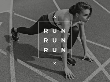 Running Woman in sepia tone