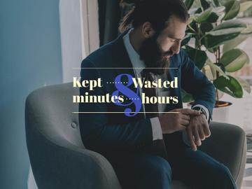 Businessman cheking watches