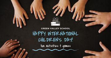 International Children's Day with Children's hands
