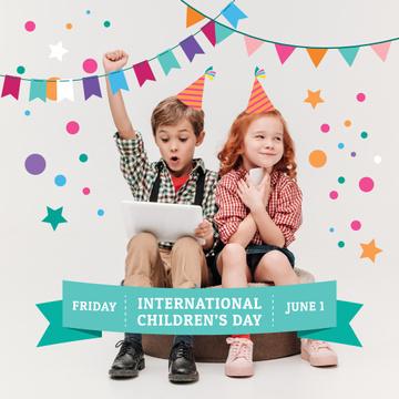 Happy little kids on Children's Day