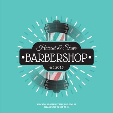 Barbershop Striped Lamp