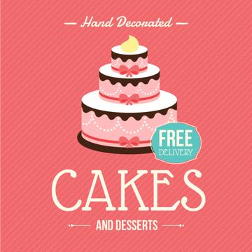 Cakes Offer with Layered pink cake
