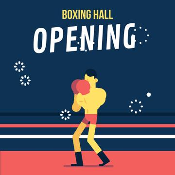 Man Boxing on Ring