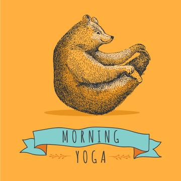 Bear Doing Morning Yoga