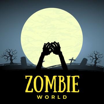 Creepy Zombie Hands on Graveyard