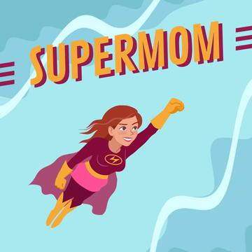 Superwoman Flying in the Sky