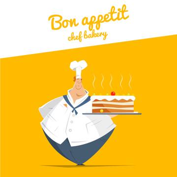 Chef Holding Sweet Cake