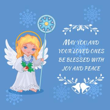 Little girl angel in Blue