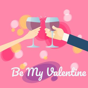 Couple drinking wine for Valentine's Day