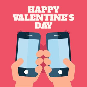 Valentine's Day with Couple sending Messages
