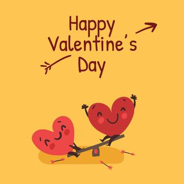 Happy Valentine's Day Hearts on seesaw