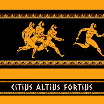 Ancient Marathon Race Athletes