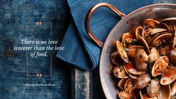 Citation about a love to food