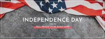 Independence Day Greeting USA Flag on Grey
