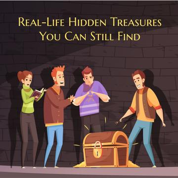 Team of Friends Opening Treasure Chest