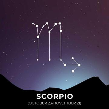 Night Sky With Scorpio Constellation