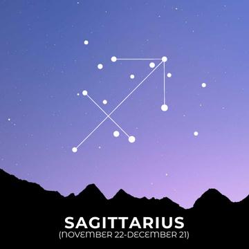 Night Sky with Sagittarius Constellation