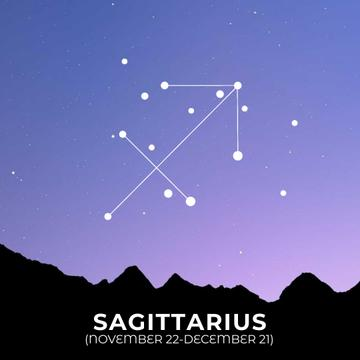 Night Sky with Sagittarius Constellation