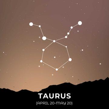 Night sky with Taurus constellation