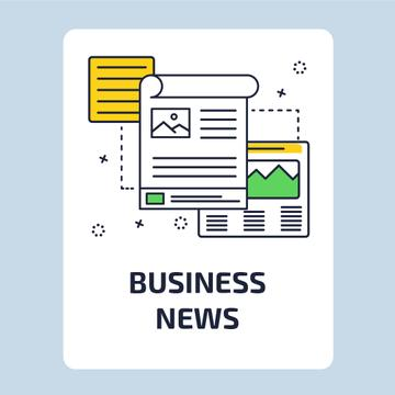 Business News with file icon